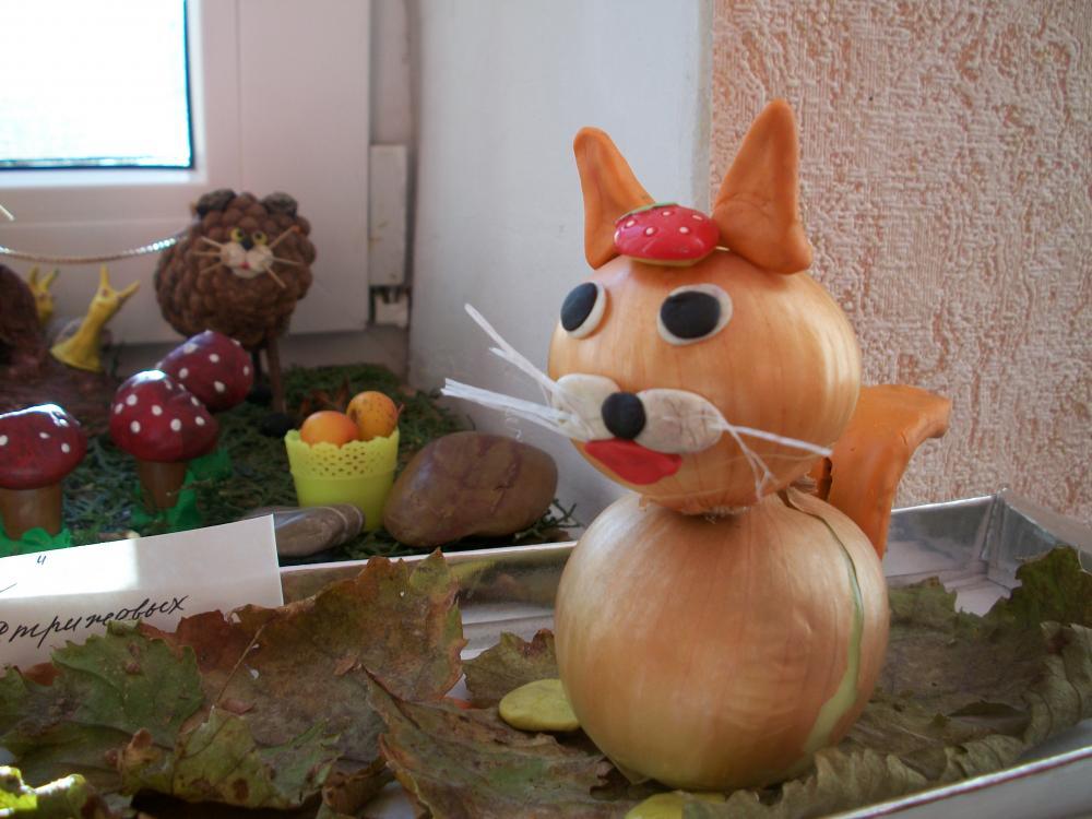 Поделки из овощей на выставку осень 150
